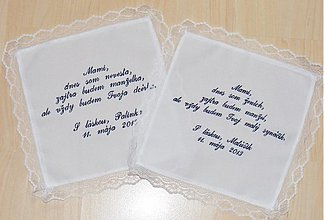 Iné doplnky - vyšívaný svadobný obrúsok pre rodičov - 2492428