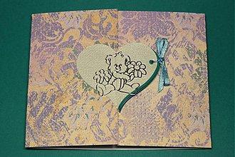 Papiernictvo - Pohľadnica 3D srdiečka - LEN PRE TEBA - 2496360