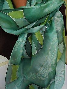 Šatky - zelený šálik - 2496454