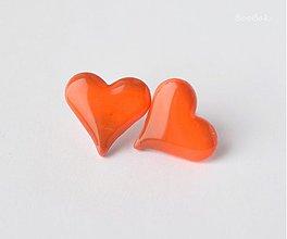 Náušnice - Hnedo-oranžové svietiace - 2496704