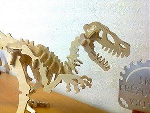 Hračky - 3D PUZZLE dinosaurus RAPTOR stavebnica - 62cm - 2499302