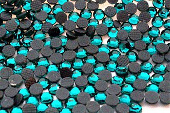 Galantéria - Hotfix kamienky: tyrkysové - blue zyrcon, SS6 144 kusov - 2499473