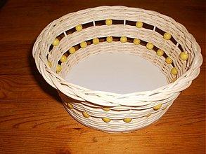 Košíky - Košíček- ošatečka s korálkami... - 2499970