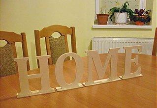 Tabuľky - Nápis HOME - výška 16 cm - 2503096