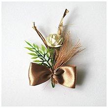 Pierka - Svadobné pierka bežovo-zlaté - 2509761