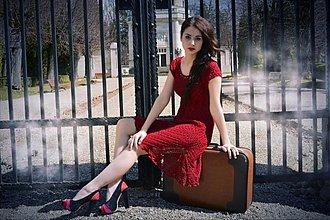 Šaty - GrayDetail vinová - 2510814