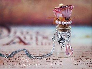 Náhrdelníky - vintage lahvička na drobnosti - 2511658
