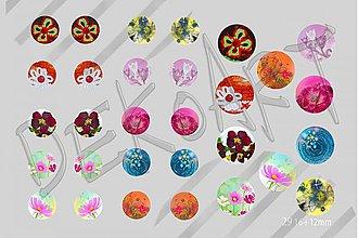 Materiál ručne robený - Motívy na šperky č. 29 - akcia 4+1 zdarma na všetky motívy - 2516185