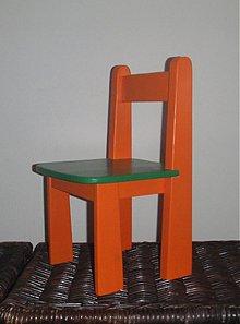 Detské doplnky - Detská stolička oranžovo-zelená - 2516492