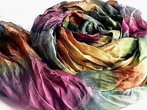 Šály - šál farby lesa 180x90cm - 2516819