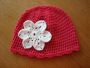 Detské čiapky - Malinová pre Katku - 2516984