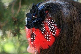 Ozdoby do vlasov - čierna ruža - 2519330