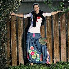 Sukne - Origo riflova suknička Kvety/Kruhy - od uplneho začiatku - 2519988