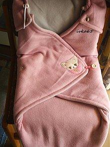 Textil - zavinovačka, ružová - 2523626