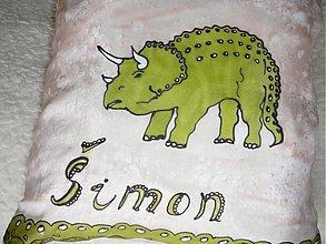Úžitkový textil - vankúš dinosaurus - 252535