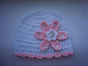 Detské čiapky - Čiapka biela - 2526105