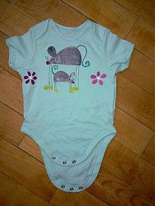 Detské oblečenie - myšičkové body - 2528057