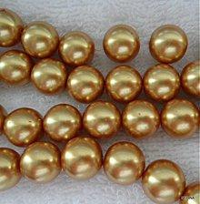 Korálky - Sklenené s leskom 12mm-1ks (zl.hnedá) - 2533850
