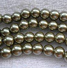 Korálky - Skl.s leskom 8mm-1ks (oliv.zelená) - 2533867