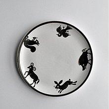 Nádoby - tanier stredný zver - 2534164
