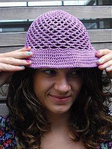 Čiapky - klobuuk fialový...hneď - 2534428