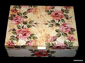 Krabičky - Krabička s ružami - 254140