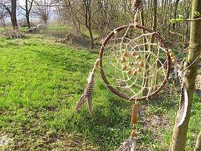 Dekorácie - Lapač snov - prírodný - 2542280