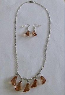 Sady šperkov - Svetlo-hnedá sada šperkov - výpredaj - 2542470