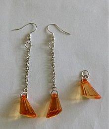 Sady šperkov - Svetlo-oranžová sada šperkov - výpredaj - 2542566
