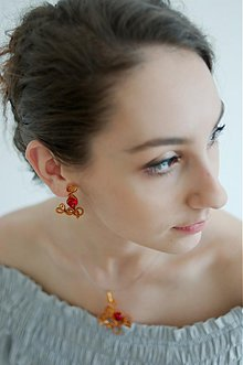 Sady šperkov - Rubínové potešenie v medi - 2546602