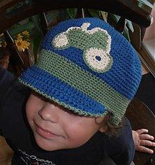 Detské čiapky - Čiapočka traktor - 2549461