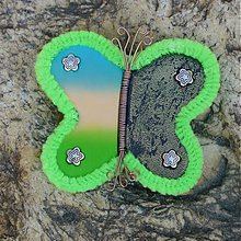 Odznaky/Brošne - Neónový motýlik - 2552768