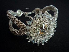 Náramky - Kryštálové slzy-náramok (Ag 925) - 2552946