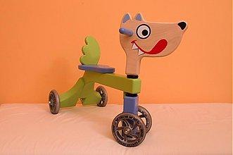 Hračky - drevené odrážadlo - vĺčik - 2553477