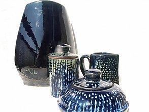 """Dekorácie - váza tmavomodrá   set """"vodopád"""" - 2555237"""