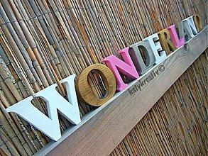 Tabuľky - 10cm drevené písmená - 2556983