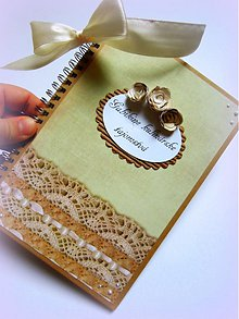 Papiernictvo - Čipkované receptíky - 2561413