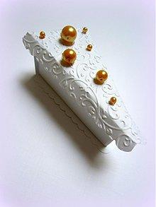 Darčeky pre svadobčanov - Zlatom pocukrovená... - 2564592