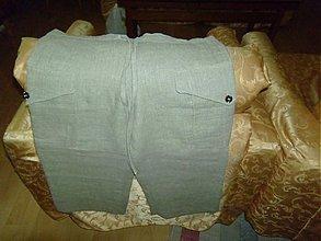 Iné oblečenie - dámske ľanové nohavice pieskovej farby - 2565157