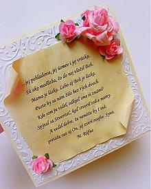 Papiernictvo - Modlitbička za mamkino srdce I. / M. Rúfus - 2569721