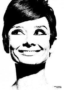 Papier - Nažehlovací obrázok Audrey Hepburn - 2571141