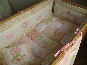 Textil - vintage postieľka - 2573697