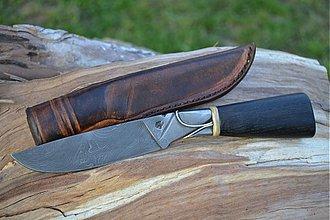 Nože - Damaškový nôž so striebornou dekoráciou - 2574172
