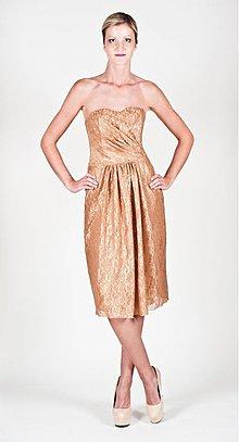 Šaty - Koktejlové korzetové šaty z krajky rôzne farby - 2574881