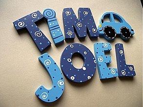 Detské doplnky - výroba mena LEO+auto - 2576763