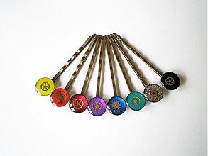 Ozdoby do vlasov - Steampunkové farebnice... - pôvodná cena 2,30 € - 2577727
