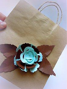 Drobnosti - Tyrkysová ruža - 2577823