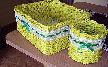Košíky - košík žltý - 2585165