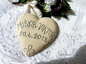 Dekorácie - Svadobné srdiečka - 2586442