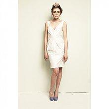 Šaty - Svadobné hodvábné koktejlky - 2591468